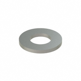 Oversized Flat Washer: 18-8 Stainless Steel, For 1/2 in Screw Size, 0.532 in ID, 1.125 in OD, 0.095 in Thickness, 25 PK