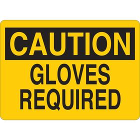 Personal Protective Equipment Sign: Caution, 5 in Overall Ht, 7 in Overall Wd, Vinyl, Self-Adhesive