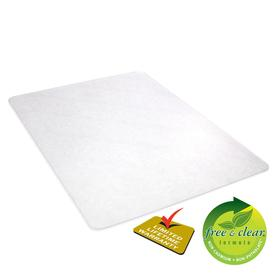 Chair Mat for Traction & Floor Protection: Vinyl, Rectangle, 5 ft Wd, 3 3/4 ft Lg, 1/16 in Thickness, Clear