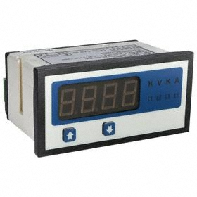 Digital Panel Meter: AC Current, Panel Mount Mounting, 4 Digits, 0.1 A Min Input Current, 6 A Max Input Current, 1000 Display Counts, LED