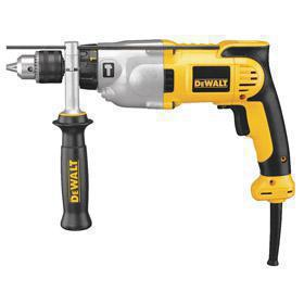 DeWalt Corded Hammer Drill: 120V AC, 1/2 in Chuck Capacity, Keyed Chuck, 10.0 A Current, 56000 bpm Max Impact Rate, 3500 RPM Max Speed