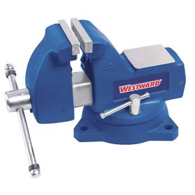 Heavy Metalworking Vise: Mechanic's Vise, Iron, 8.00 in Jaw Wd, 8 1/4 in Max Jaw Opening, 4 3/4 in Throat Dp, Serrated