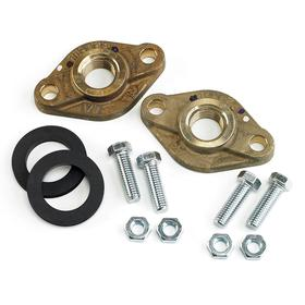 Pump Flange Kit: 150 psi Max Op Pressure, Bronze, Uncoated, 3 7/16 in Bolt Circle Dia, 1/2 in Bolt Hole Dia, 4 Bolt Holes, NSF-372