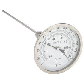 Thermometer: Screw Connection, 0.0° F Min Op Temp, 250.0° F Max Op Temp, Adj, 1/2 in Connection Size, 1/4 in Stem Dia, 12.00 in Tube Lg