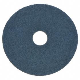 Fiber Disc: Medium Relative Grit Grade, 5 in Disc Dia, 80 Grit, 7/8 in Center Hole Dia, Zirconia Alumina Abrasive, 25 PK