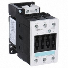 Siemens IEC Contactor: 3 Poles, Single/Three Phase, 40 A Current Rating, 3 hp - Single Phase @ 120V, 15 hp - Three Phase @ 240V