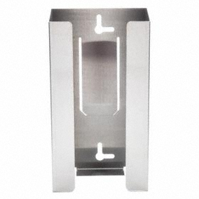 Glove Dispenser: (1) Box Capacity, Silver, Horizontal/Vertical, 10 in Overall Ht, 5 5/8 in Overall Wd