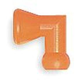 Flex Coolant Hose Connector: 1/4 in Hose Size (ID), Gen Use, Orange, 90° Elbow, Connectors Fitting Type, Acetal, 2 PK