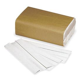 Paper Towels: Folded Sheet, White, C Fold, 9 1/4 in Sheet Wd, 10 1/4 in Sheet Lg, 10 1/4 in Folded Wd, 1-Ply, 12 PK