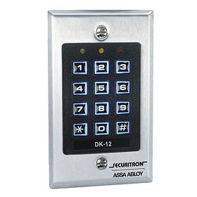 Keypads Keyless Access Control Keypad: 4 1/2 in Ht, 2 3/4 in Wd, 3/16 in Dp, Mortise/Surface, ADA Compliant, Silver