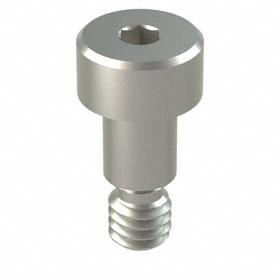 Precision Shoulder Screw: 18-8 Stainless Steel, Hex Socket, 3/16 in Shoulder Dia, 8-32 Thread Size, 1/4 in Shoulder Lg, 3/16 in Thread Lg, 5 PK