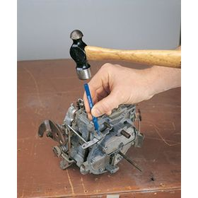 Solid Pin Installation & Removal Punch: Std Pin-Removal Punch, 5/16 in Tip Size, 6 in Overall Lg, Pointed, Steel