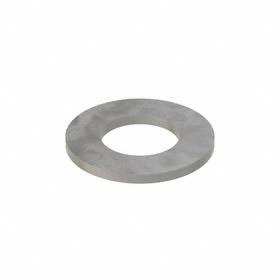 Narrow Flat Washer: Steel, Plain, Low Carbon Material Grade, For 1 in Screw Size, 1.063 in ID, 2 in OD, 100 PK