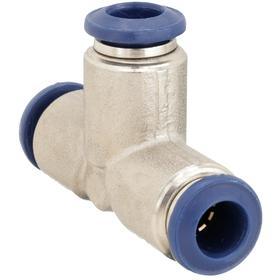 Universal Thread Push-to-Connect Union Tee: 1/2 in Port 1 Tube Size, 1/2 in Port 2 Tube Size, 0° F Min Op Temp, 10 PK