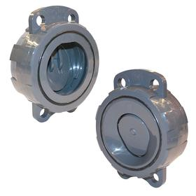 Check Valve: 315 gpm Max Flow Rate, PVC, EPDM, 4 in Size, 9 in Overall Ht, 2 29/32 in Overall Lg, 6 3/4 in Overall Wd