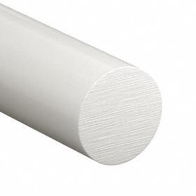 Delrin 150 Rod: 3/8 in Dia, 36 in Lg, FDA Compliant, White, +0.003 in/-0.000 in Dia Tolerance