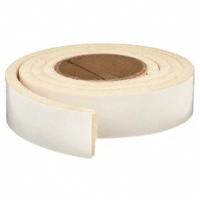 Grade F5 Felt Strip: Adhesive, 120 in Lg, 3/16 in Thickness, 1 in Wd