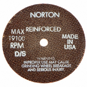 Norton General Purpose Cut-Off Wheel: Type 1 Type, 6 in Wheel Dia, 3/8 in Center Hole Dia, 0.035 in Wheel Thickness