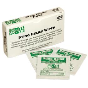 Sting Relief Wipe: Ethyl Alcohol 50%/Lidocaine HCL 2%, 10 PK