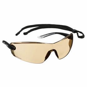 Bolle Safety Glasses: Brown, Wraparound Frame, Anti-Fog/Scratch Resistant, Black, ANSI Z87.1-2010/CSA Z94.3-2007