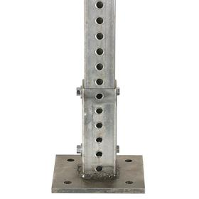 Surface Mount Breakaway Anchor: For Square Sign Posts 2 in Wd, Steel, 6 in Overall Lg, 6 in Overall Wd, 6 in Overall Dp