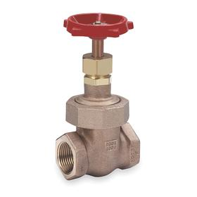 Gate Valve: Bronze, Non-Rising, Union Bonnet, Class 200 Class, 1 1/4 Inlet Pipe Size, 97 Coefficient of Volume