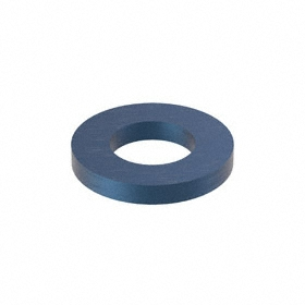 Flat Washer: Alloy Steel, Blue Phosphate, For M6 Screw Size, 6.87 mm ID, 13 mm OD, 1.750 mm Thickness, 25 PK