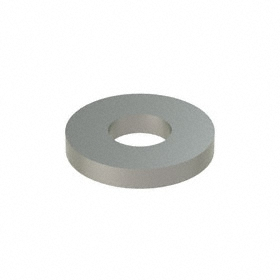 USS Flat Washer: 316 Stainless Steel, For No. 8 Screw Size, 0.188 in ID, 0.437 in OD, 0.065 in Thickness, SAE & USS, 25 PK