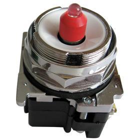 Eaton Push Button Operator: Illuminated, Extended Operator, Momentary, Transformer, For 600 V AC, 30 mm Operator Dia, Silver
