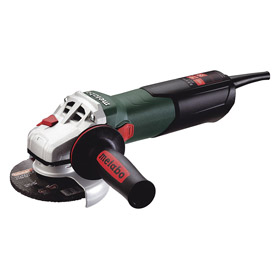 Metabo Angle Grinder: For 4 1/2 in Max Wheel Dia, 8 1/2 A Amps, Single Speed, 10500 RPM Max Motor Speed, Slide, 5 Pieces