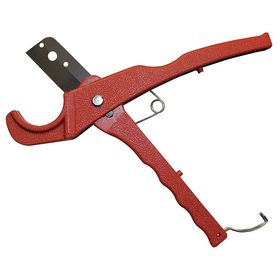 Straight Pipe Cutter for PVC & Plastic: Tube Cutter, For 1 in Max Dia, Shear, 8 1/4 in Overall Lg, Steel