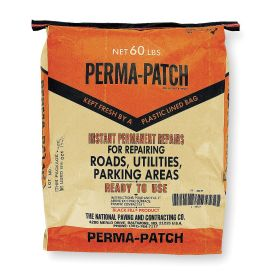 Pavement Repair Patch: 30 day, Immediately, 6 sq ft at 1 in Dp, 60 lb Size, Bag