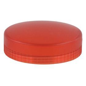 Schneider Electric Pilot Light Lens: For Schneider Integral Red LED Light Modules, 28.5 mm Overall Lg, Plastic, Red