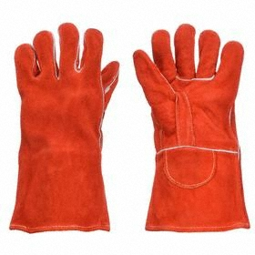 Welding Glove: Cowhide, L Size, Left/Right Pr, 1.2 mm Glove Material Thickness, 13 1/2 in Glove Lg, Gauntlet Cuff, 1 PR
