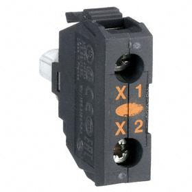 Schneider Electric Lamp Module with Bulb: For Schneider Electric 22mm Operators (ZB4, ZB5), 120V AC, Light Block, Yellow