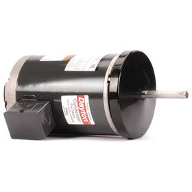 Direct-Drive HVAC Motor: Condenser Fan, 1 hp Output Power, 56Z NEMA Frame Size, Open Air-Over, 230V AC/460V AC, Three Phase