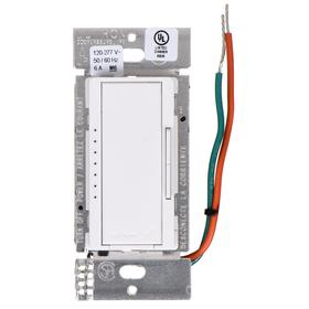 Lutron Wireless Dimmer Switch: For Fluorescent, Rocker Dimmer, 120-277V AC, White, Daylight Harvesting/Dimming/Retrofit