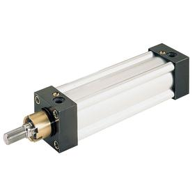 NFPA Tie-Rod Air Cylinder: 3 1/4 in Bore Dia, Double Acting, Aluminum, Both Ends Cushioned, 15 1/2 in Stroke Lg