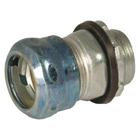 Hubbell Rigid Conduit Compression Connector: Connector Fitting Type, 1 in Trade Size, 1.9 in Overall Lg, Steel, EMT
