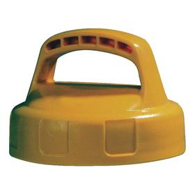 Quick-Identify Lid: Round, Storage, Yellow, High-Density Polyethylene, 6 in Lid OD, 4 1/4 in Overall Ht