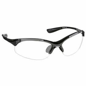 Radians Safety Glasses: Clear, Wraparound Frame, Scratch Resistant, ANSI Z87.1, Nylon, Black, Unisex, Polycarbonate