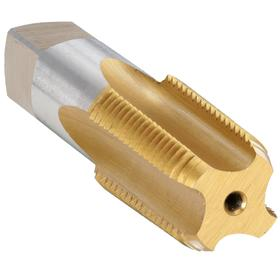 "Pipe & Conduit Thread Tap: Long Life TiN, High Speed Steel, Right Hand, 1/4""-18 Thread Size, 1 1/16 in Thread Lg, NPT"