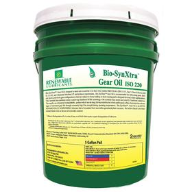 RLI Gear Oil: 220 ISO Grade, 80W-140 SAE Grade, 30.9 cSt Viscosity @ 100° C, 5 gal Container Size, Bucket, Yellow