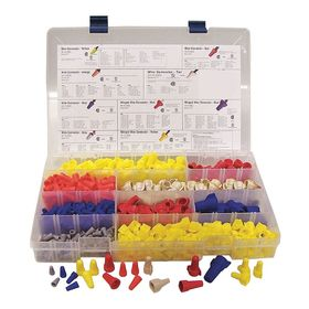 Ideal Wire Connector Kit: Blue/Gray/Orange/Red/Tan/Yellow, CSA C2.2 No. 188/UL 486C, Twist-On Terminals