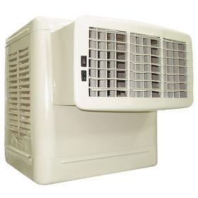 Window Evaporative Cooler: 350 sq ft Estimated Cooling Capacity, 2800 cfm Max Air Flow, 6.3 gal Fluid Capacity, 120V AC