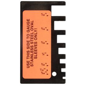 Sleeve Gauge: 1/16 in_1/32 in_1/8 in_3/16 in_3/32 in_3/64 in_5/32 in Sizes Measured, 3.5 in Overall Lg, 2 in Overall Wd