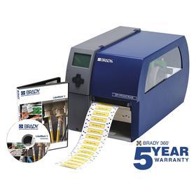 Brady PR300 Plus Desktop Label Printer: Printer Only, Continuous Labels/Die-Cut Labels, 4 in Max Label Wd, Single Color