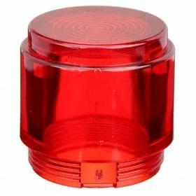 Siemens Push Button Cap: Plastic, Red, Illuminated, Screw On, For Siemens Push to Test or Illuminated Push Buttons