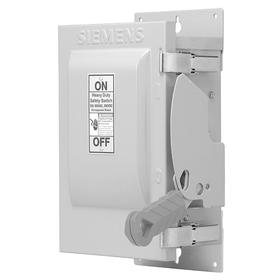 Siemens Heavy Duty Safety Disconnect Switch: Three Phase, 3 Poles, 30 A @ 600V AC Switch Rating, Indoor Oiltight, 3 Wires, UL