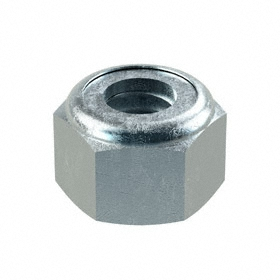 "Nylon Insert Locknut: Steel, Zinc Plated, 5/16""-18 Thread Size, 33/64 in Wd, 23/64 in Ht, 100 PK"